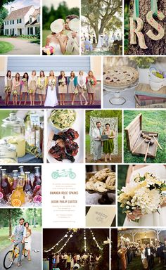 """backyard wedding on a budget - @Angela F, not saying/assuming you're on a budget, but this site has a bunch of different types of """"weddings on a budget,"""" and it may have some fun and cute ideas!"""