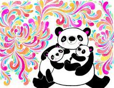Panda Bear Mom 8x10 Fine Art Print. $20.00, via Etsy.