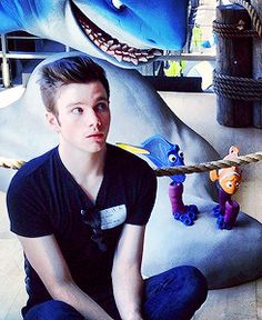 chris colfer. Starring in Finding Dory.