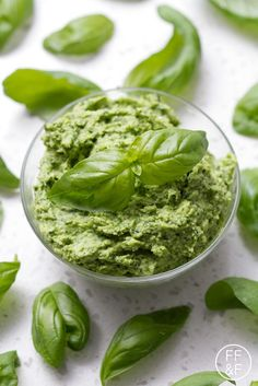 Vegan and nut-free! Try this Basil Pesto recipe that's easily made in your Vitamix