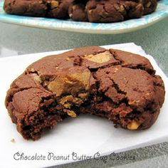 Rumbly In My Tumbly: Chocolate Peanut Butter Cup Cookies- Dessert