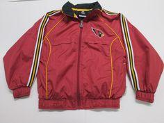 NFL Arizona Cardinals Windbreaker Jacket, Child Size 7 #Reebok #ArizonaCardinals