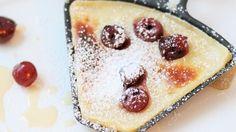 Raclette Dessert: Crêpe mit Amaretto-Kirschen