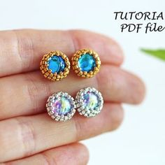 Waterfall Earrings Tutorial with Seed Beads and Crystals | Etsy Beaded Bracelets Tutorial, Beaded Bracelet Patterns, Earring Tutorial, Seed Bead Bracelets, Beaded Earrings, Seed Beads, Stud Earrings, Beaded Bead, Bead Jewelry
