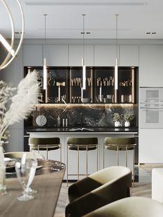 Enhance Your Senses With Luxury Home Decor Modern Kitchen Design, Interior Design Kitchen, Modern Interior Design, Luxury Home Decor, Luxury Interior, Interior Architecture, Living Room Kitchen, Home Decor Kitchen, Luxury Dining Room