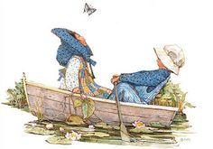 Holly  Hobbie  in  barca