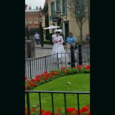 Mary Poppins takes a stroll #frangipanifamilyChristmas2015 #disney #waltdisney #wdw #epcot