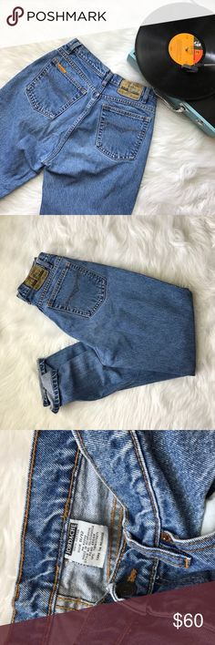 Vintage 1990s jordache mom jeans Size 11/12 on the tag, fits more like a 6. Waist measures at 28 inches, rise is 11, inseam is 30, hips are 20 straight across. These are tapered. Great for someone who is more Curvy! Vintage Jeans