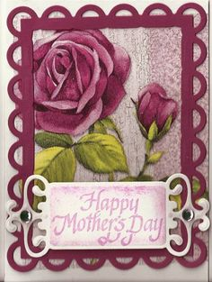 Felted Mother's Day Card by - Cards and Paper Crafts at Splitcoaststampers Napkin Cards, How To Make Greetings, Redo Clothes, Diy Clothing, Paper Napkins, Greeting Cards Handmade, Homemade Cards, Cardmaking, Paper Crafts