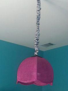 My Twin Girls New Room Zebra Hot Pink Light Aqua Blue