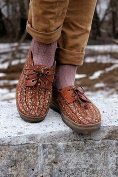bd35e058dd8e Обувь ручной работы. Заказать Теплые туфли-дерби