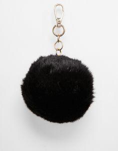 Skinnydip Black Fluffy Bag Charm