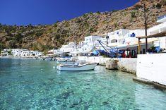Photographic Print: Greek Coastline Village of Loutro in Southern Crete by singidavar : Crete Island, Santorini Island, Greece Islands, Mykonos, Greek Island Hopping, Beaux Villages, Sea Photo, Crete Greece, Destinations