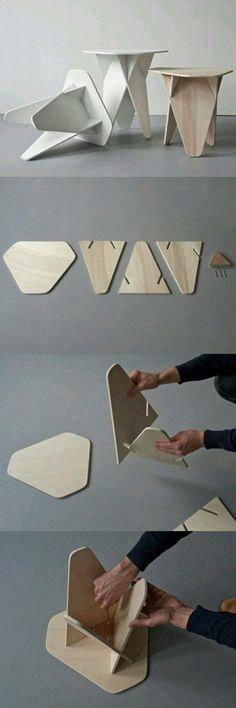 奇思妙想的组合木凳