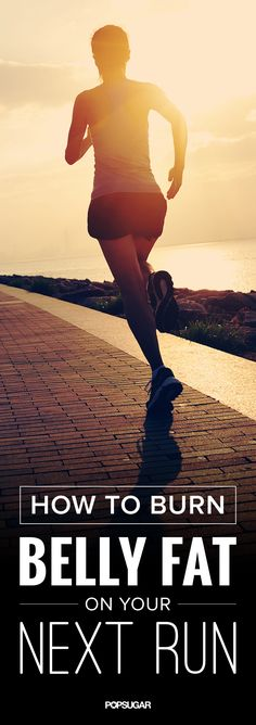 Maximize your run to minimize your belly with the techniques to reduce belly fat. #fitness #workout