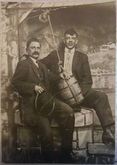 James Earp left, Morgan Earp right, this is an albumen print that was never mounted. Of the many Morgans I own this is probably my favorite, and id say of all the Earp boys Morgan was the most jocular.