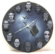 Classic monsters of cinema horror wall clock. All my heroes in one picture, 24 hours a day! Horror Room, Memes Arte, Horror Decor, Horror Crafts, Horror Art, Horror Movies, Goth Home, Gothic Furniture, Furniture Ideas