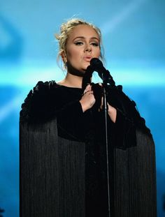 Adele during the tribute for George Michael at the 'Grammy 2017'
