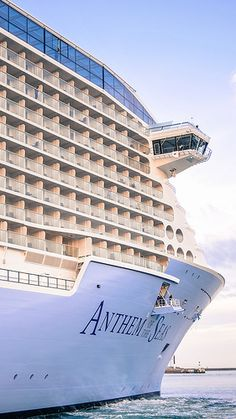 Book an inaugural cruise for a once-in-a-lifetime experience. Anthem of the Seas sailed with her very first guests through Europe. Royal Caribbean Ships, Royal Caribbean Cruise, Cruise Travel, Cruise Vacation, Vacations, Anthem Of The Seas, Cruise Planners, Royal Caribbean International, Cruise Outfits