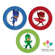 Pj Masks Birthday Cake, Birthday Cake Kids Boys, Fourth Birthday, 4th Birthday Parties, Birthday Bash, Pjmask Party, Art Party, Pj Masks Cake Topper, Pj Masks Printable