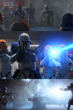 Episode stills from Season 7 Episode 'Shattered'. Commander Rex and clones going after Ahsoka Tano. Star Wars Boba Fett, Star Wars Clone Wars, Star Wars Art, Star Trek, Star Wars Characters Pictures, Star Wars Pictures, Guerra Dos Clones, Star Wars Books, Star Wars Quotes