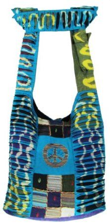 Amazon.com: Hobo Bohemian Hippie Gypsy Peace Sign Ripped Razor Cut Flower Patch, 2 Side Printed Shoulder Sling Crossbody Monk Bag Purse Nepal: Arts, Crafts & Sewing