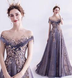 Purple Evening Dress, Lace Evening Dresses, Long Purple Dress, Elegant Evening Gowns, Mauve Prom Dress, Strapless Dress Formal, A Line Long Dress, Purple Party Dress, Evening Gowns With Sleeves