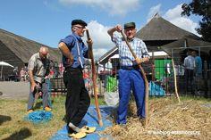 Rogge dorsen tijdens Staphorstdag 2014 #Staphorst #Overijssel