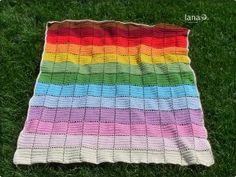 Prikrývka z 13 farieb priadze