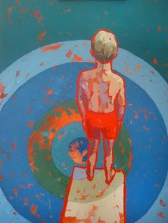 """Paul Norwood reminds us to take the """"Plunge"""" in this painting."""
