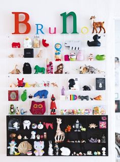 toy gallery wall, love!