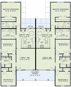 1000 ideas about duplex plans on pinterest duplex house for Rental property floor plans