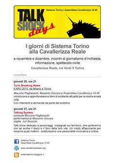 Talk Shock Days. I giorni di Sistema Torino  alla Cavallerizza Occupata di Torino