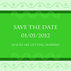 Save The Date - Apple Wedding Card Design  Printable by Ornaart, $18.00