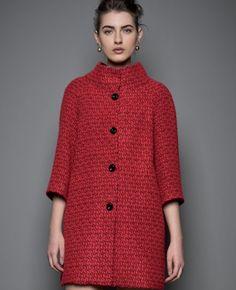 Crosschic Cappotto rosso Designer Hanita