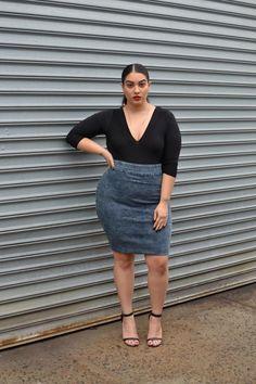 Denim Skirt | #f21plus