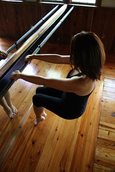 Kathy at the barre