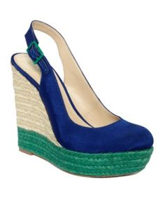 At Macy's. Also comes in B Such a cute espadrille/pump combo :)
