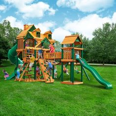 1ad8e87477295 Gorilla Playsets Malibu Treasure Trove I Swing Set Swing Sets