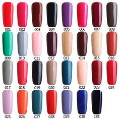Color 1-30 Gel Nail Polish Led Gelpolish Diy  Varnish Color Fashion Nail Polish Soak-off LED UV Gel Color Hot Nail Gel