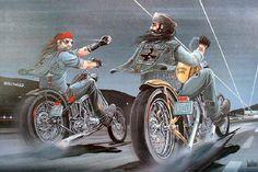 David Mann Motorcycle Art | David Mann