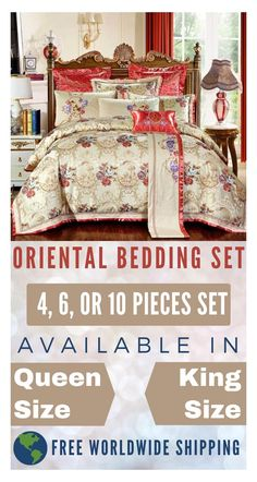 Now create a more Luxurious Bedroom Decor with minimum effort. This Oriental Luxury Bedding Set will help you create the perfect bedroom decor for you. Transform your bed into a beautiful decor piece which will help you in decorating the room around it and make the perfect Luxurious Decor for your bedroom. Visit our store to check out our entire collection of Luxury Bedding Sets and create the perfect bedroom decor that your deserves to live.