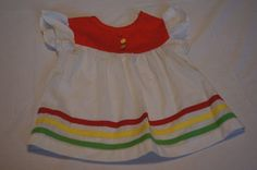 $8 Vintage 1980's Sears Baby Dress by TheMercerStreetHouse on Etsy