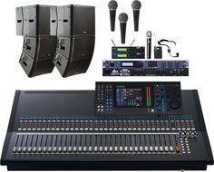 QSC KLA church sound system:) QSC KLA12 Active Line Array System QSC KLA181 Line Array Subwoofer  Yamaha LS9-32 Digital Mixing Console Pure Resonance Audio UC1S Microphones DBX DriveRack PX Powered Speaker Optimizer