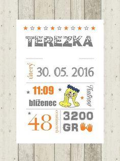 Plakátky - dekorace do dětského pokoje / Zboží prodejce adenka84 | Fler.cz Bullet Journal, Poem