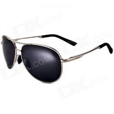 Reedoon 1310 Unissex polarizadas Resina Lens UV400 óculos de proteção - Prata + Cinza