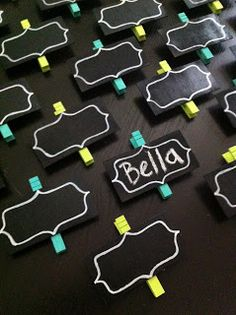 Chalkboard Clothespins to display student work