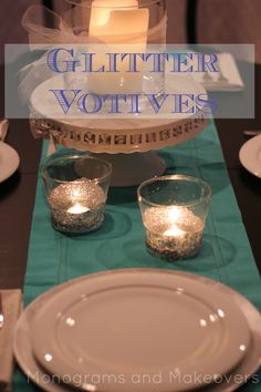 I just love a good dollar store craft. I found plain glass votives at the Dollar Tree. Apparently when I made my Rubber Band Votives I was looking in all the wrong places in Dollar Tree. Their c...