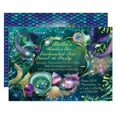 Under the Sea Sweet 16 Birthday Invitations Invitations