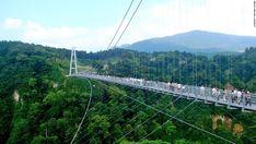 Znalezione obrazy dla zapytania suspension footbridge